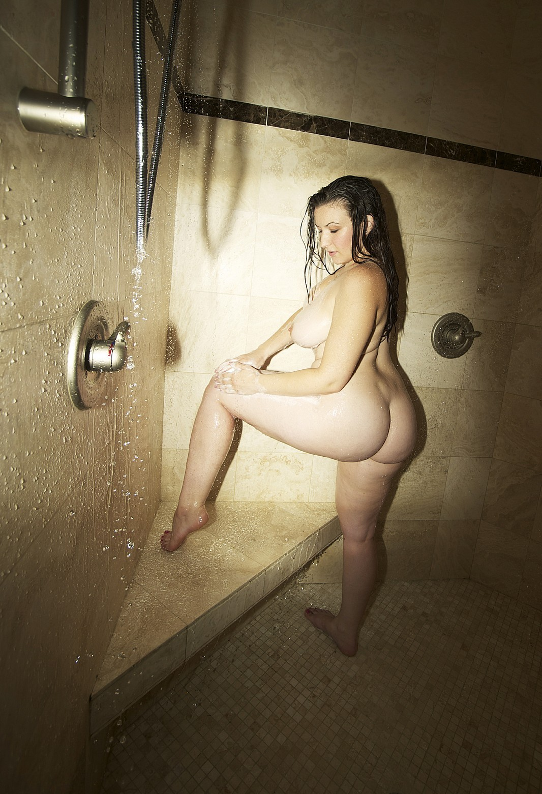 Big tit shower cam video