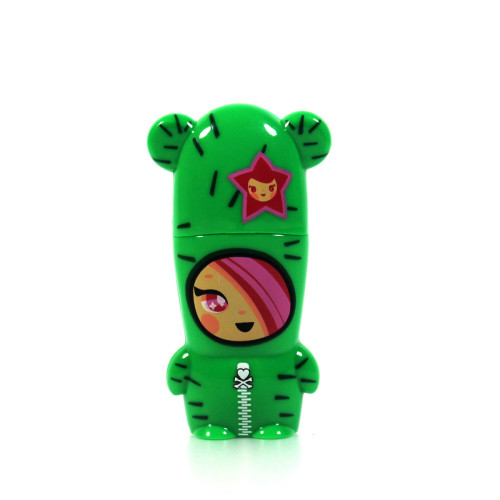 Sandy 8GB With Hoodie @mimobot, 31% off now featured on Fab.Fab.com Sandy's all wrapped-up in her cactus costume and this prickly friend won't let nothin' get at your photos, music and documents! With her faithful pup, Bastardino, coming along for the wild ride down the data-highway, Sandy's shock of pink hair and her wide-eyed grin let you know that, come rain or shine, desert or forest, she's a friend for life! Designed by Tokidoki for Mimoco, Sandy MIMOBOT comes pre-loaded with the full suite of super-crazy-awesome Tokidoki-themed content featuring: exclusive desktop wallpapers, icons, avatars, and screensavers!