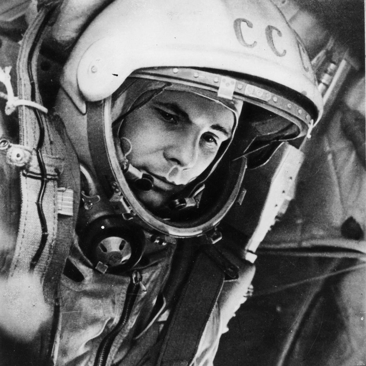 thekhooll:  The Columbus of The Cosmos Yuri Alekseyevich Gagarin was a Soviet pilot and cosmonaut. He was the first human to journey into outer space, when his Vostok spacecraft completed an orbit of the Earth on 12 April 1961.