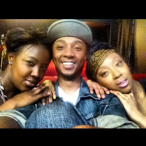 With my sisters looking like a destiny's child album cover. Lol. @ebby_berry @_ess__ to support @rich2success88 on his off broadway how. #familyfirst (at Producers Club Theaters)