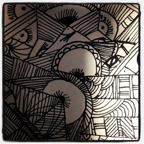 Reports can take a lifetime to finish. #doodle #lines #circles #ink #postit #art #life #thursday