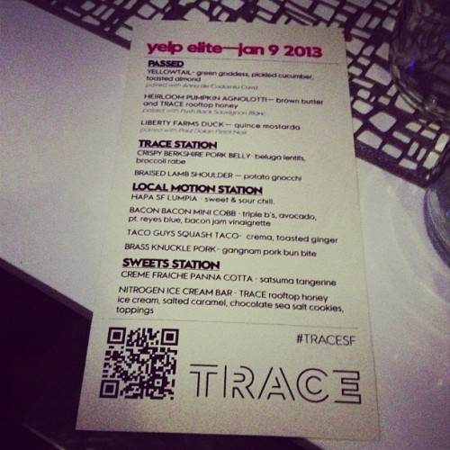 First Yelp elite event!  (at TRACE San Francisco)