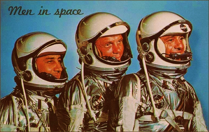 Men In Space; Gus Grissom, John Glenn and Alan Shepard, 1960s