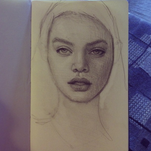 #art #sketch #drawing #moleskin #sketchbook #portrait #girl #awonderfulmistake #pencil #artwork