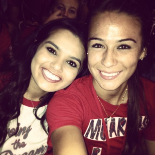 #tbt with MYY girl @nicoletteudria 🏈❤😍 Missin' Friday nights lights like CRAYYY !😔 ^*)$^* Love this girlllll though! ☺😍😘 ❌⭕❌ THAnK YOu For This Nik ! :-)))