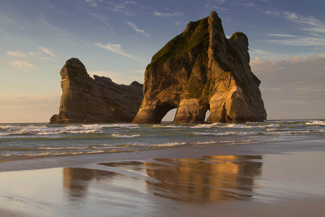 Wharariki Beach , Golden Bay by martindavies63 on Flickr.