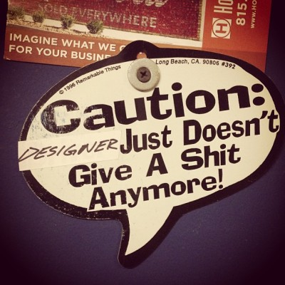 Pretty much sums it up! #design #designer