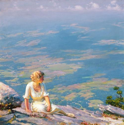 Charles Courtney Curran (American; 1861–1942)Sunshine and HazeOil on canvas, 1922Ruth Chandler Williamson Gallery, Scripps College, Claremont, California