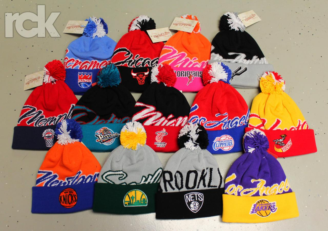 New Mitchell & Ness NBA beanies are in! $30