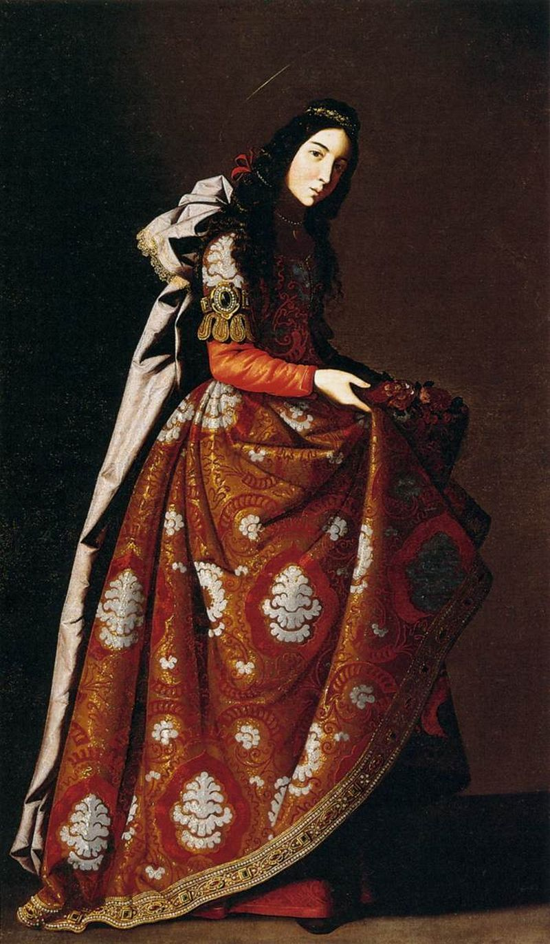 Francisco de ZURBARÁN [Spanish Baroque Era Painter, 1598-1664] St Casildac. 1630Oil on canvas, 171 x 107 cmMuseo Thyssen-Bornemisza, Madrid