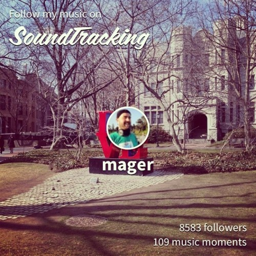 If you're on SoundTracking, follow me at: mager. I'm using this mobile app to share what I'm listening to…  #soundtracking