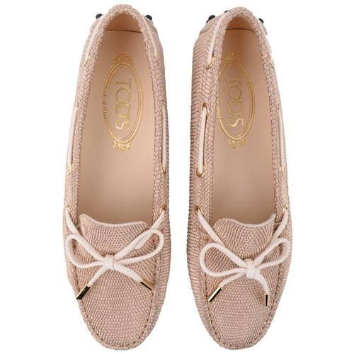 Tods loafer   ❤ liked on Polyvore (see more metallic loafers)