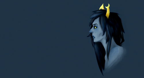 Vriska/Mindfang from last night I hate studying for exams.