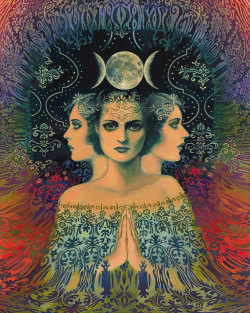 "melissacronk:  ""The Moon - Goddess of Mystery"" by Emily Balivet, 2013."