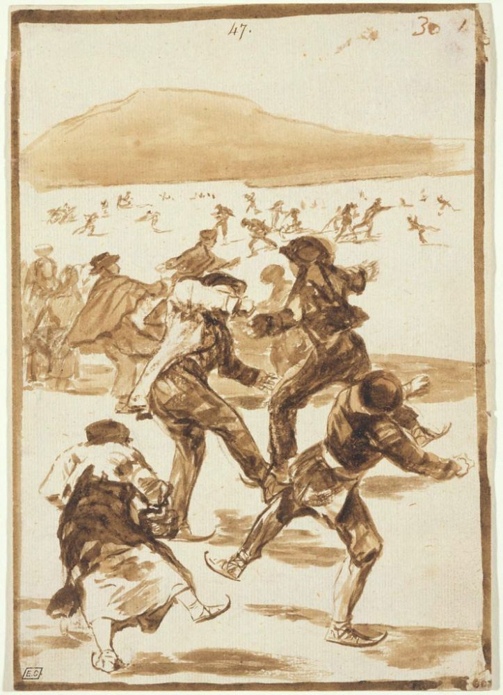The Skaters, 1817–20Francisco Goya
