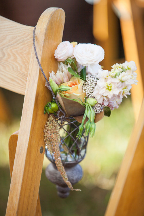 bridalsnob:  Chair decor  | via SMP | photo by Anita Martin Photography