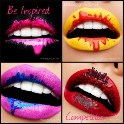 karlapowellmua:   *'Be Inspired' by Karla Powell Competition *  I finally have a new competition I think you are all going to love! I want you to be inspired by my Colour Run lips series and to take my designs and 'be Inspired' and for you to re-create one of the looks in anyway however you want, just simply be inspired by the series! It's a chance for you have fun, learn, experiment and to get creative with my project (Not to Copy be inspired) ! To enter the competition re-create your take on the Colour Run lip series look, like my Facebook PAGE and POST your PICTURE of the look on my page with a link to your Facebook/Website etc! (your more than happy to link to my twitter but it has to be posted on my facebook page for you to enter) I will pick one winner where they will have a chance to be featured on my Blog, Twitter, Instagram and Facebook page and to assist me on my next Colour Run Lips series photoshoot! The competition runs till the 21st January 2013 and the winner will be announced on the 22nd January 2013! Good luck to everyone… This is your chance to get creative and have fun! I suggest you take part in this competition if you based in the UK as you have to make your own way there to the photoshoot if you win.  Karla  X