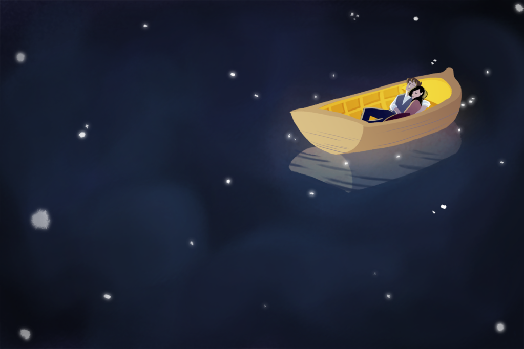 "deviantart:  A wonderfully simple illustration: ""The universe reflection"" by *Tiuni  Follow her on Tumblr!"