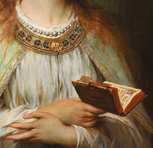 jaded-mandarin:  Ophelia - Thomas Francis Dicksee. Detail.