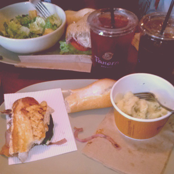 Panera Bread with the momma <3