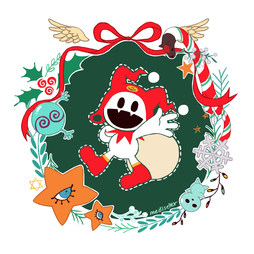 HEE-HO-HO Merr-hee Christmas-ho. have a huge transparent version too and its a red jack frost bc i think this is the official...