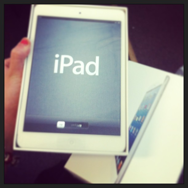 My new baby!! Yay iPad mini! #lovemylife #soblessed #cantwaittoexploreit