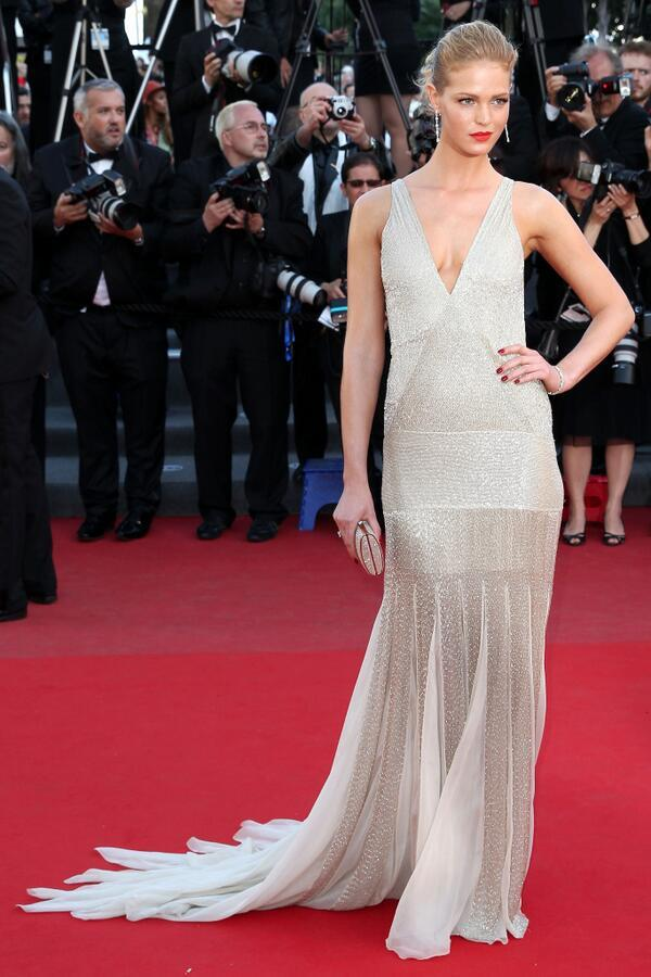allaboutvsmodels:  'Behind The Candelabra' Premiere at The 66th Annual Cannes Film Festival  Erin Heatherton.