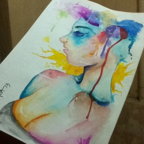 Quick paint #watercolor #painting #illustration #female #drawing #art #artph #artwork #colorful #color #pencil