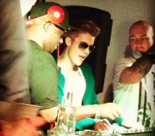 Justin at McFaddens club last night!