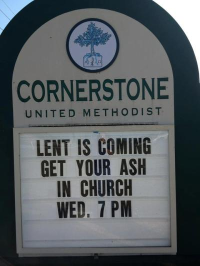 Best church billboard: 2.13.13