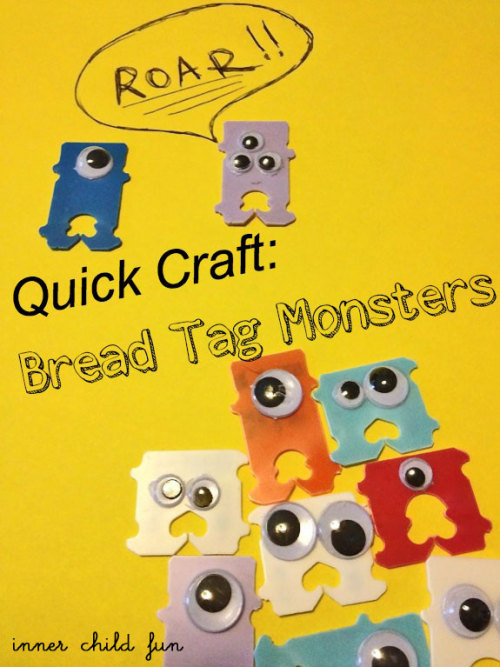 craftdiscoveries:  (via Quick Craft: Bread Tag Monsters)