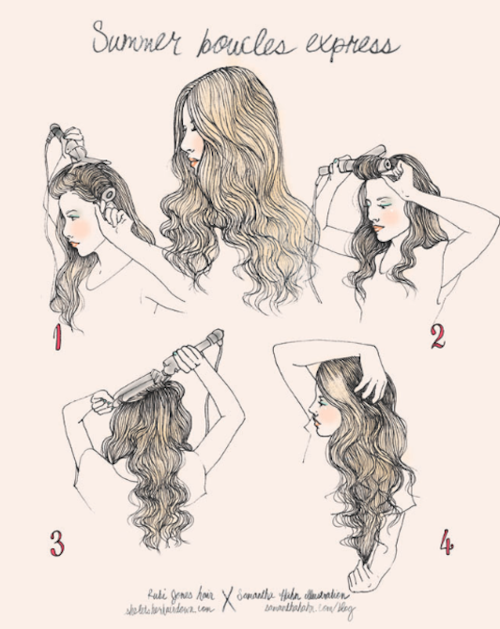 And Finally Easy Beachy Waves All Youll Need To Achieve This Look Is A Curling Iron Some Hairspray My Go Hairstyle Year Long