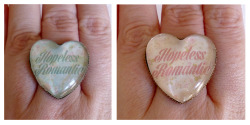 Hopeless Romantic Heart Shaped Cameo Rings <3 https://www.etsy.com/shop/CalamityJayneDesigns