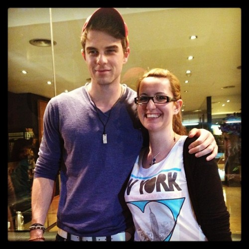 With mr. @natebuzz at the hotel. He has a lot of patience with the girls… Thank you Nate! #BeBlessed #natebuzz #NathanielBuzolic