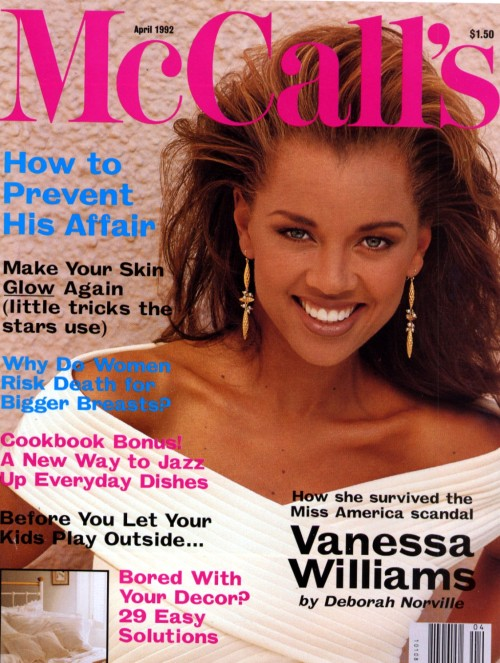 McCall's US, April 1992Model : Vanessa Williams