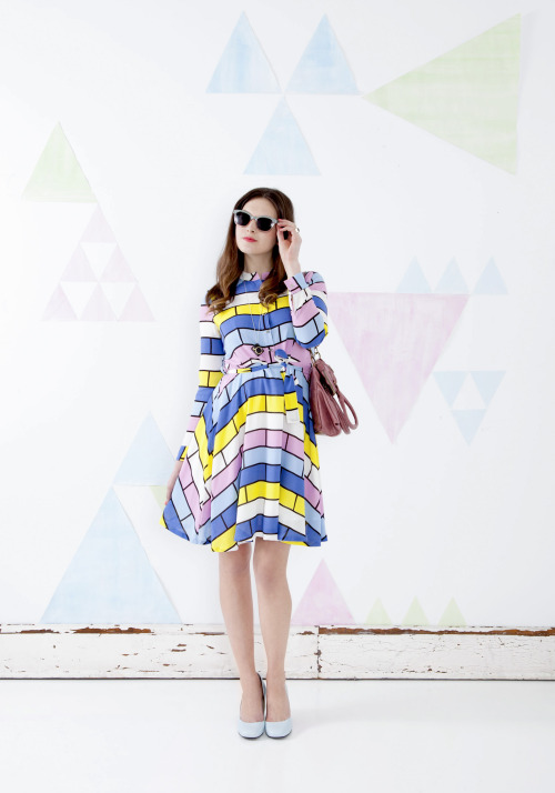 modcloth:  I love how this look, featuring the Brick House Party Dress, worked out! The colorful frock, paired with pastel heels made a perfect spring look! Shop more 70's inspired frocks here! <3 Amy, ModStylist Need styling suggestions, trend tips, or dress details? Ask a ModStylistand your question might be featured on our feed!