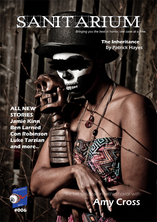Exciting news, folks! I just got published in Sanitarium Magazine! You can find my story Dead Rat here in issue 6, which just came out today. And, o what a beautiful issue it is! Check it out, pick up a copy and spread the word! You can buy issue 6 here! - Jamie Kinn