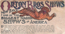 Orton Bros Shows (Now Have One of the Biggest Wagon Shows in America)