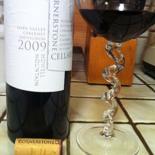 Enjoying one of my fave cabs by @CornerstoneNapa '09 Howell Mountain. Blog post coming soon! #wine #winegeek #napa