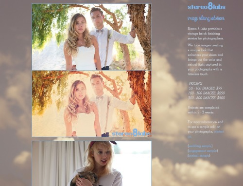 check out image processing options at Stereo 8 Labs
