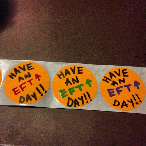 eft-up:  #haveaneftupday!! 5 #stickerpacks going to the post office soon!#eft #up #eftup #stayeftup #slaps #stickers #stickerart #stickerporn