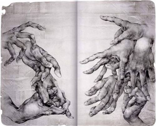 hands, and more hands.