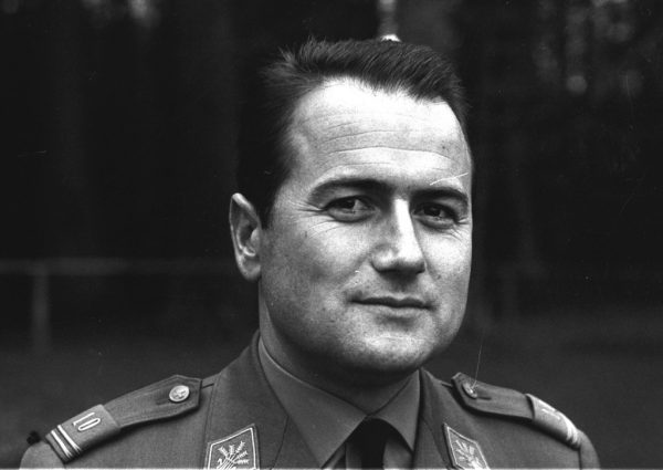"""Joseph """"Sepp"""" Blatter's portrait during his service in the Swiss Army, 1966"""