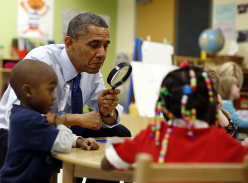 reuters:  Photos: Obama plays with pre-school children in Georgia  this is how you be a cool president