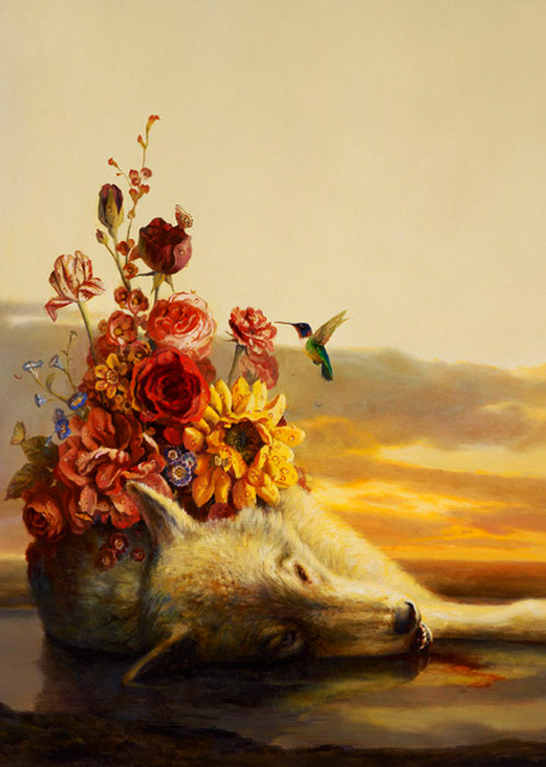 Martin Wittfooth Fall/Advent  Martin Witfooth as seen in hi-Fructose vol.19  and from death there bloomed life