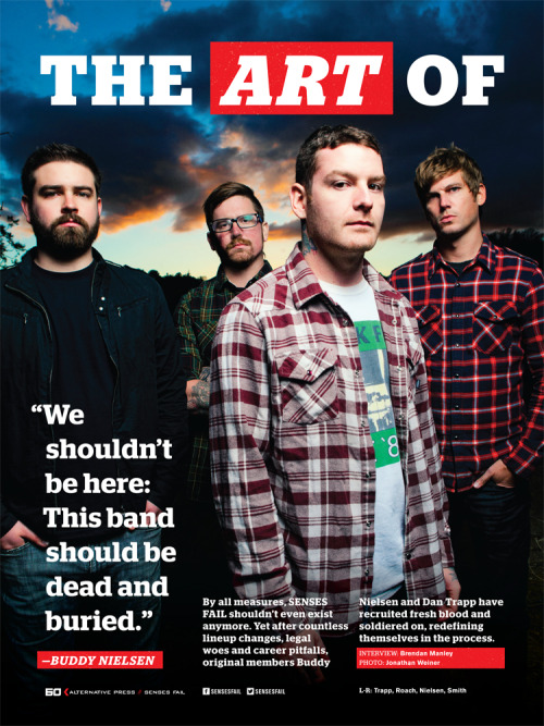 Senses Fail, Los Angeles 2012 for Alternative press. This page can be found in AP#298.