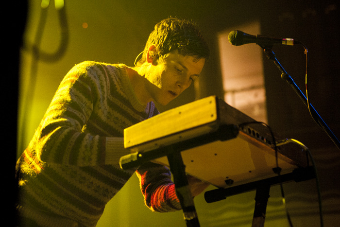 cmj:  Portland, Oregon synth-pop group STRFKR played a packed Webster Hall on Friday night, bringing along flashing lights, some balloons and tracks from its latest album, Miracle Mile.