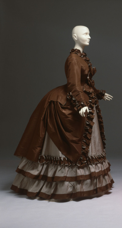 Worth walking dress ca. 1867 From the Albany Institute of History and Art