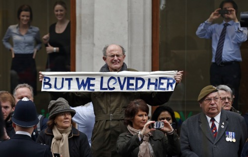 Most British Man Ever Attends Thatcher's Funeral.