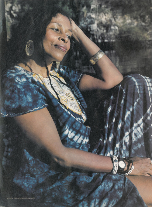 "soulology:  disciplesofmalcolm:  norulenorule:  Assata Shakur from Honey Magazine debut issue, 1998. Full article forthcoming.  ""In some ways it was easier for my generation. Racism was blatant and obvious. The ""Whites Only"" signs let us know clearly, what we were up against. Not much has changed, but the system of lies and tricknology is much more sophisticated. Today young people have to be highly informed and acutely analytical, or they will be swept up into a whirlpool of lies and deception."" -Assata Shakur  That's why the government wants her dead. They want us to stay in the dark. They don't want us to know the truth…and this is the truth.  TRUTH!!"